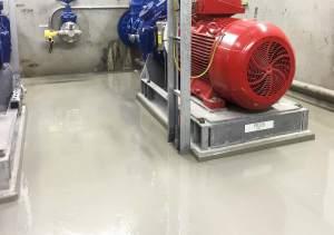Industriele vloer met kunststof coating